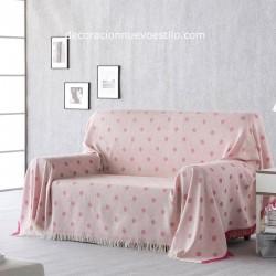 plaid-multiusos-lunares-02 rosa-decoracion-nuevo-estilo